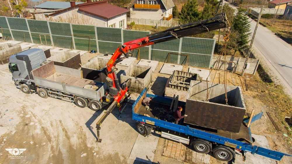 Betónové nádrže na dažďovú alebo odpadovú vodu - nakládka na dopravu