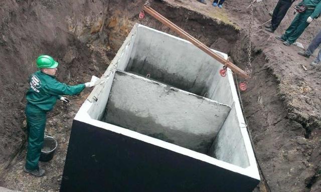 Dvojkomorový betónový septik - montáž
