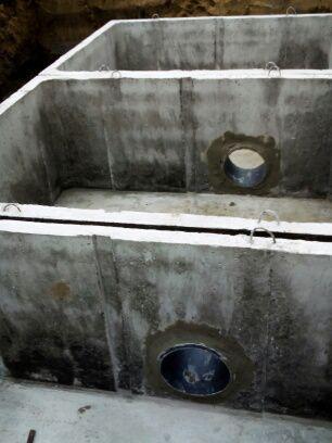 Viackomorová betónová nádrž