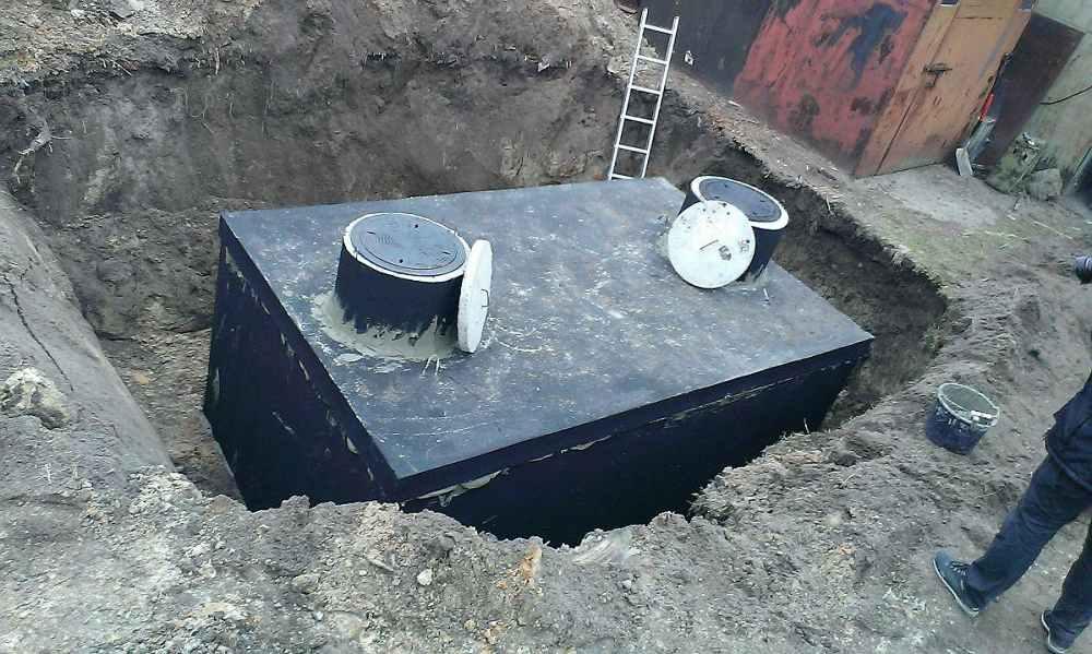 Betónový septik - montáž pri rodinnom dome