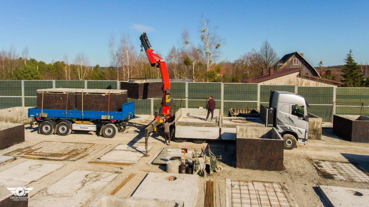 Doprava betónových nádrží od výrobcu