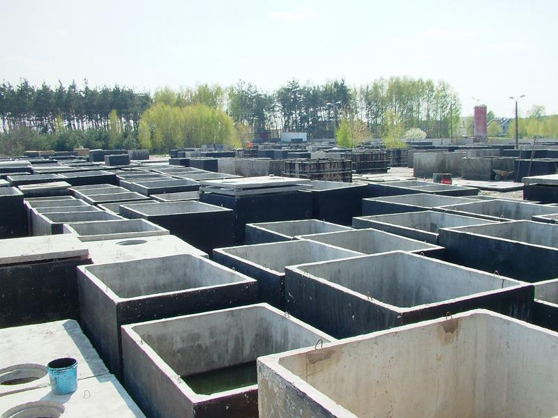 Jednokomorové betónovej žumpy - výroba